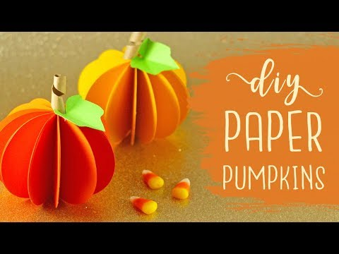 DIY Paper Pumpkins {Easy} | BOOtorial 🎃