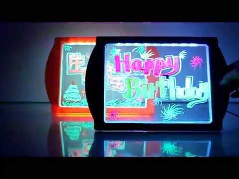 Kids Favorite Glow Art Neon Effect Drawing Board Youtube
