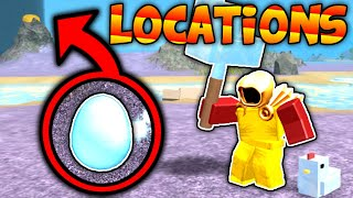 ALL 40 EGG LOCATIONS + GOLDEN EGG ON BOOGA!! EASTER EGG EVENT! (Roblox Booga Booga)