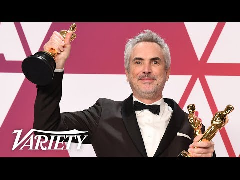 Alfonso Cuarón - 'Roma' - Best Director, Cinematographer, Best Foreign Language Film - Backstage