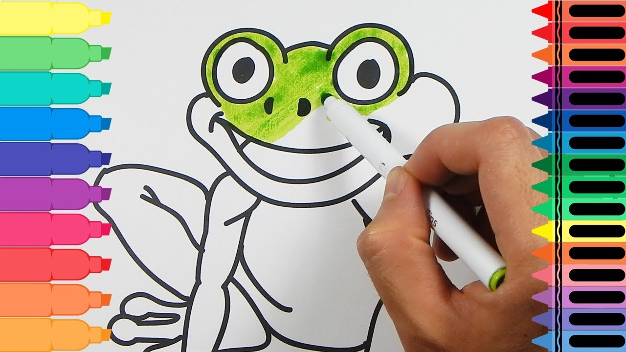 Coloring Pages That Look Like Real Animals : How to draw a frog drawing a frog coloring pages animals for