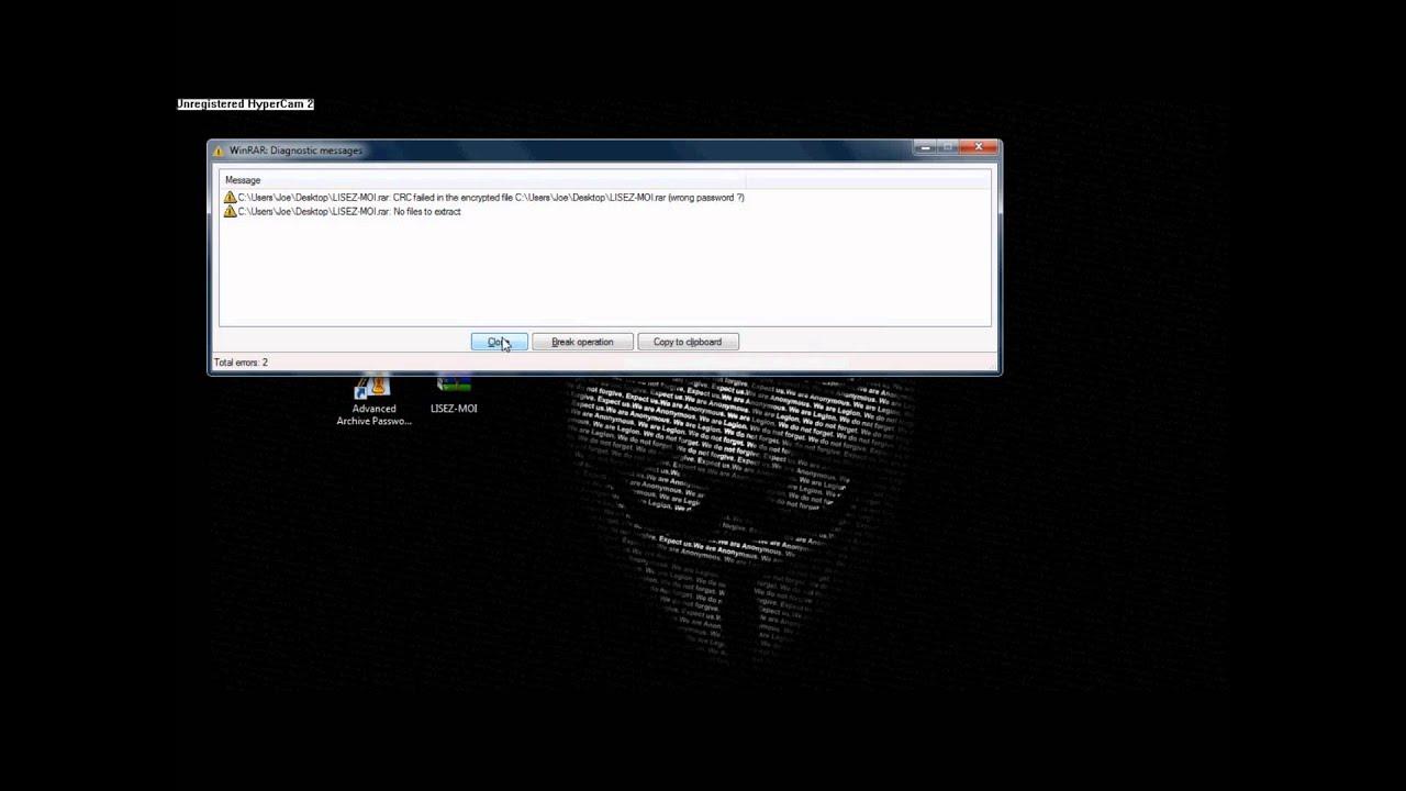 cracker mot de passe fichier rar