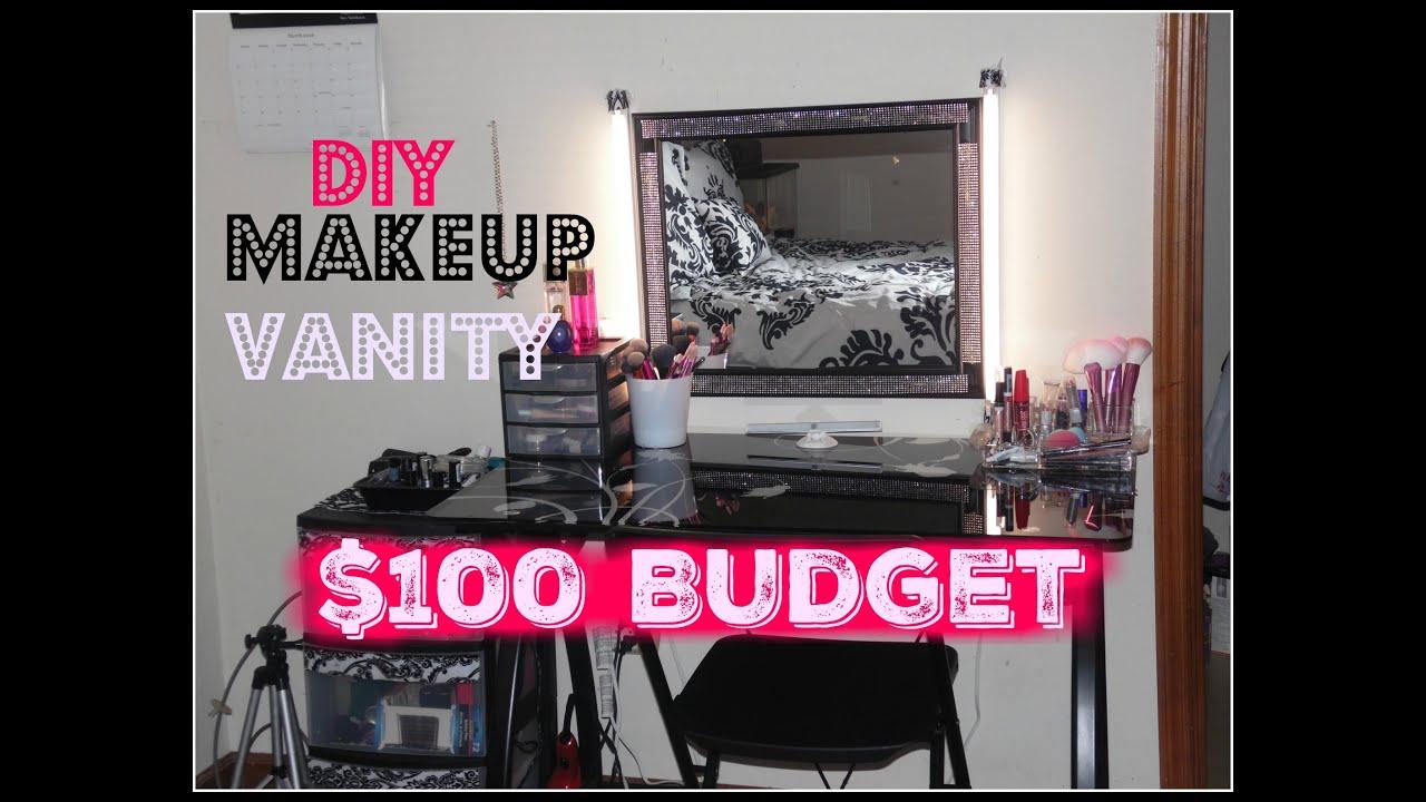 Diy Makeup Vanity 100 Budget Station