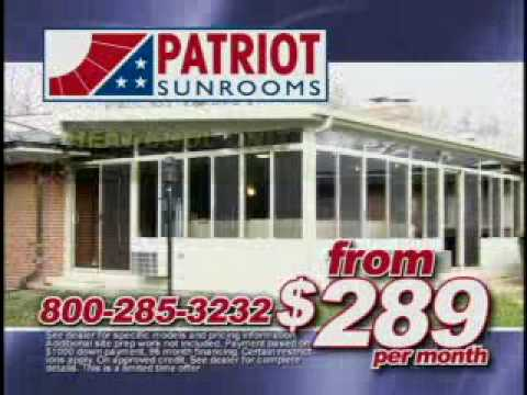 Perfect Patriot Sunrooms   $289 A Month