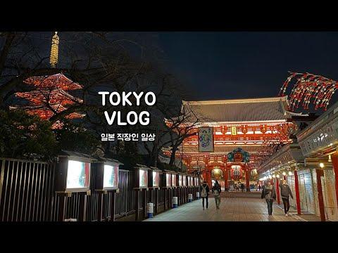 일본 브이로그 | 도쿄 직장인 일상. 아사쿠사에서 보낸 크리스마스. 스카이트리가 보이는 레스토랑 시노와(唐紅花). 출퇴근 일상. (ASAKUSA VIEW HOTEL, 센소지)