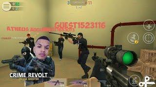 Crime Revolt Online, jogando um Game de tiro muito legal, Épico.