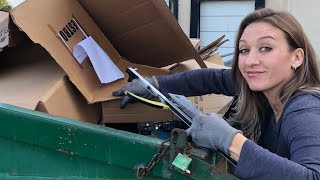 DUMPSTER DIVING- WE DID GOOD DIVING AT 4 STORES