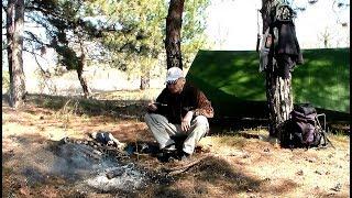 Фильм.  Походный лагерь в лесу. Forest camp