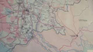 【ベトナム 40秒】ベトナムホーチミンベトナム カンボジア地図