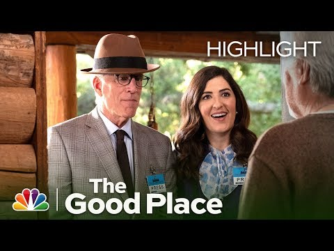 Michael and Janet Meet Doug Forcett - The Good Place (Episode Highlight)
