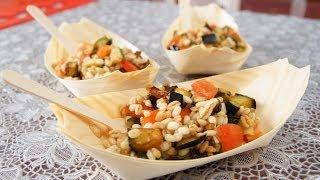 Insalata Di Farro E Orzo Con Le Verdure (ricetta Vegetariana)