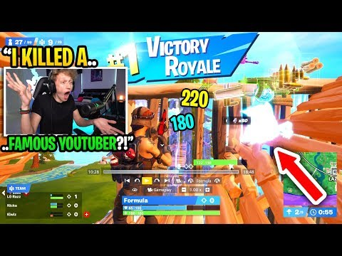 I killed a FAMOUS youtuber with 12 MILLION subscribers in Fortnite... (H20Delirious)