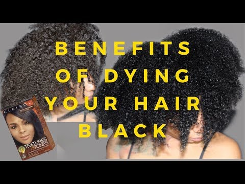 The Benefits Of Dying Your Natural Hair Black -- Clairol Textures & Tones Hair Dye Review