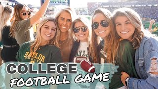 COLLEGE FOOTBALL GAME DAY | my first football game in 2 years & Baylor tailgates!!!