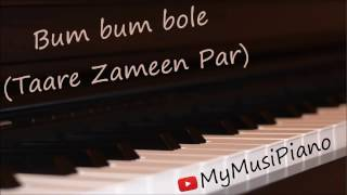 Bum Bum Bole (Taare Zameen Par) on piano