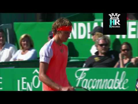 Zverev broke his racket playing with RAfa - Monte Carlo