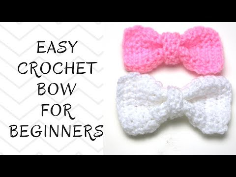 Crochet Tutorial: How To Crochet An Easy Bow