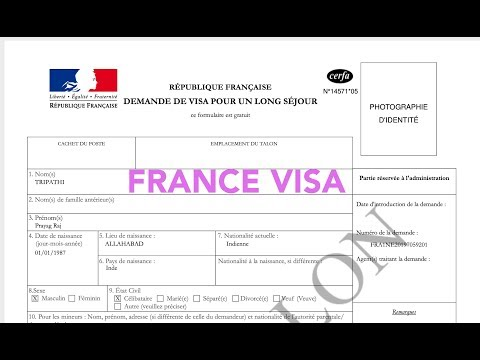 How to fill France Visa application?
