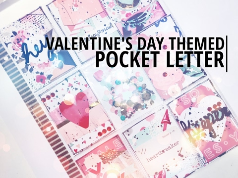 Valentines Day Pocket Letter  Process Video  YouTube