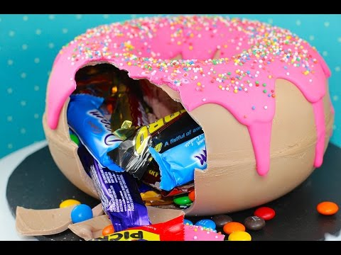 GIANT DONUT PINATA - Candy Filled Gigantic Smash Doughnut | My Cupcake Addiction
