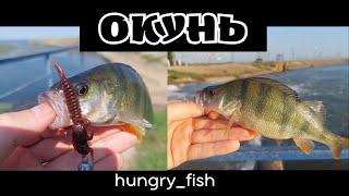 ОКУНЬ На каждом забросе Рыбалка на водохранилище Ловля окуня