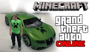 GTA 5 Online Minecraft Car Thumbnail