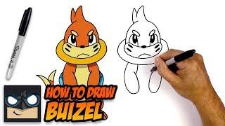 How to Draw Pokemon | Buizel | Step-by-Step
