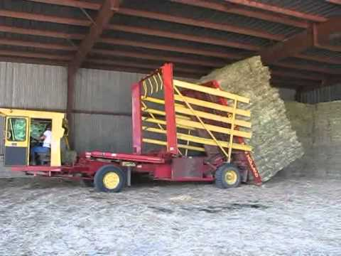 Stacking Square Bales W/1089 New Holland