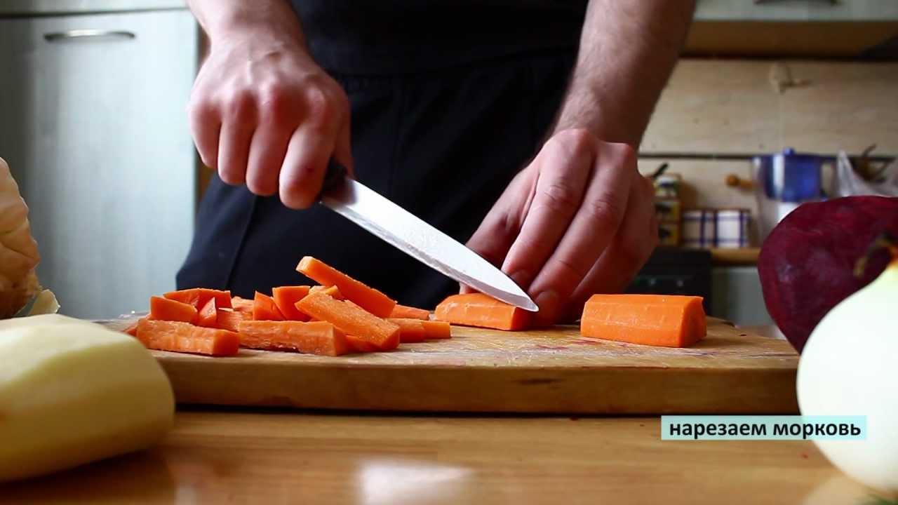видео рецепты борща на свекольном квасе