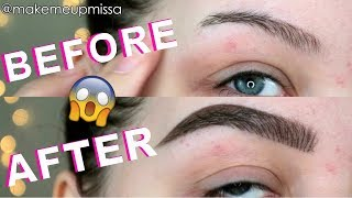 OMG! PERFECT IN DEPTH BROW TUTORIAL - DIY MICROBLADING | MAKEMEUPMISSA