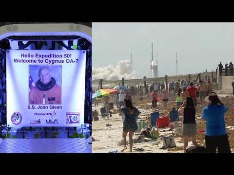 OA-7 Cygnus S.S. John Glenn launched by Atlas V