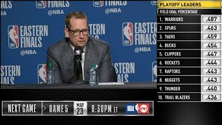 Nick Nurse postgame reaction | Raptors vs Bucks Game 4 | 2019 NBA Playoffs