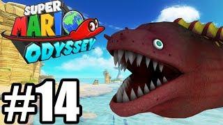 PLAŻOWE NIEBEZPIECZEŃSTWA! - Let's Play Super Mario Odyssey #14 [NINTENDO SWITCH]