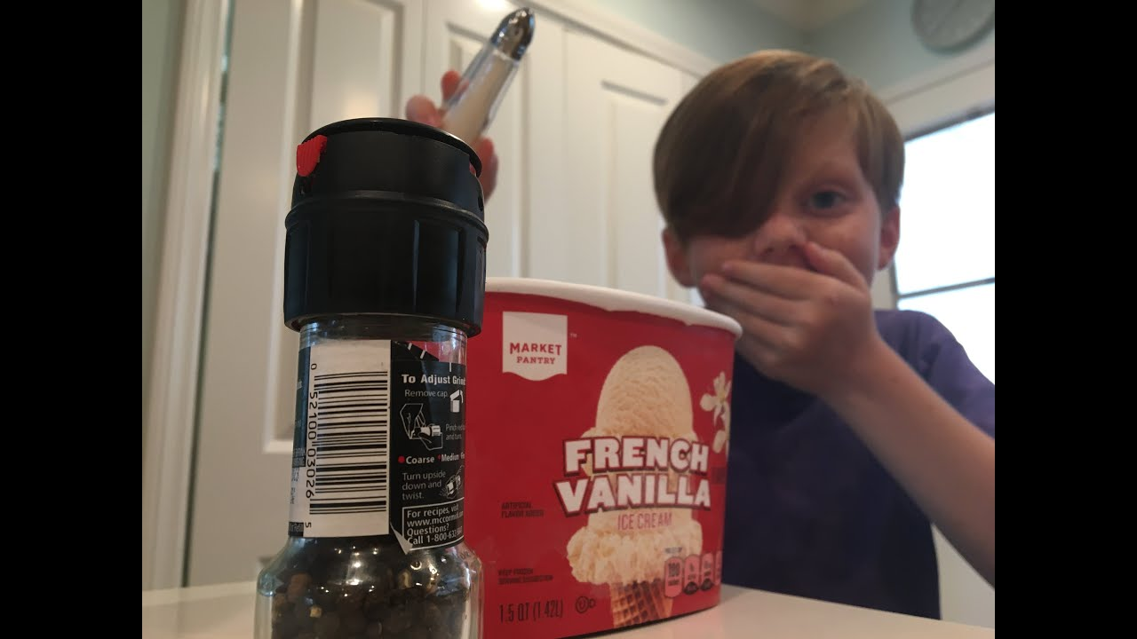 Eating Ice Cream With Salt And Pepper Youtube