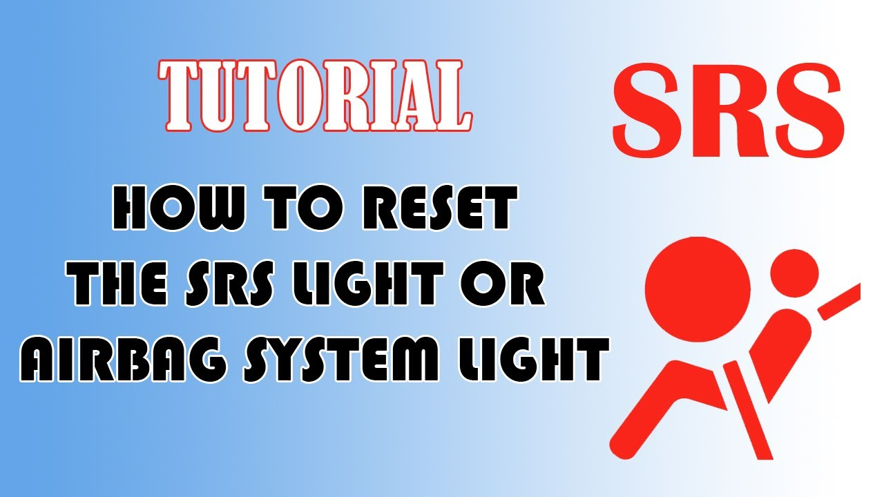 How To Reset Srs Airbag Indicator Light Youtube 2013 Honda Cr V Speaker Wiring Diagram