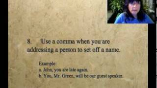 Repeat youtube video Ten Basic Comma Rules