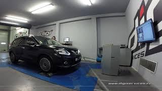 Nissan Xtrail 1.6 dci 130cv AUTO Reprogrammation Moteur @ 144cv Digiservices Paris 77 Dyno