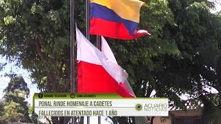 Policía Rgro. rindió homenaje a cadetes fallecidos en atentado hace un año