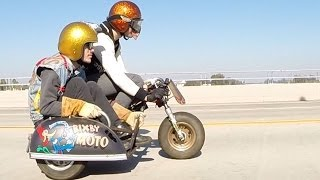 Bixby Moto Honda Z50 Minibike Sidecar Deus Ex Machina Motorcycles Award Winner GoPro Hero 3+