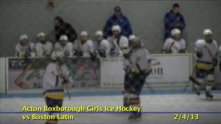 Acton Boxborough Varsity Hockey vs Boston Latin 2/4/13