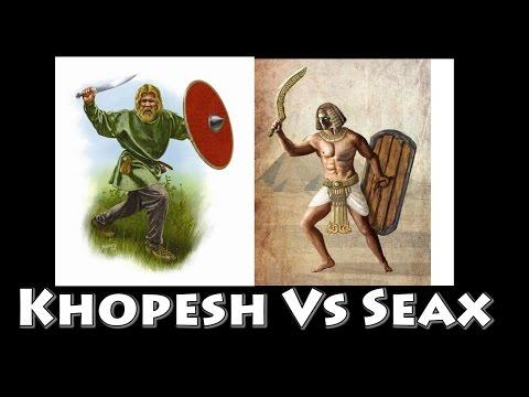 Canaanite Kopesh Vs Viking Lang Seax! on Padded Armor ( Gambeson/Aketon)
