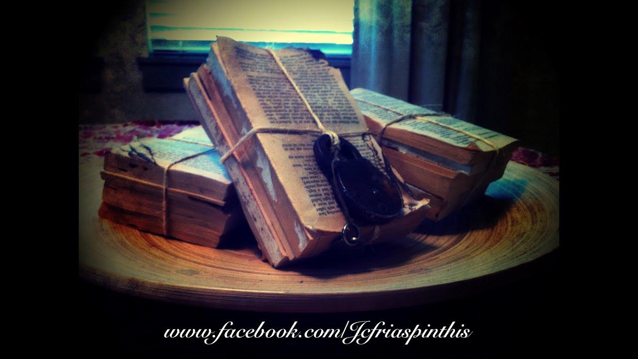 How To Make A Book Cover Look Vintage ~ How to diy make aged old vintage restoration hardware