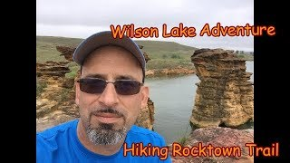 Wilson Lake, KS: Camṗing and Hiking Rock Town Trail