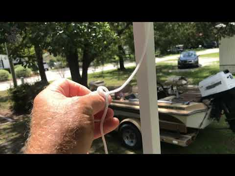 How to tie down a load or cinch a rope