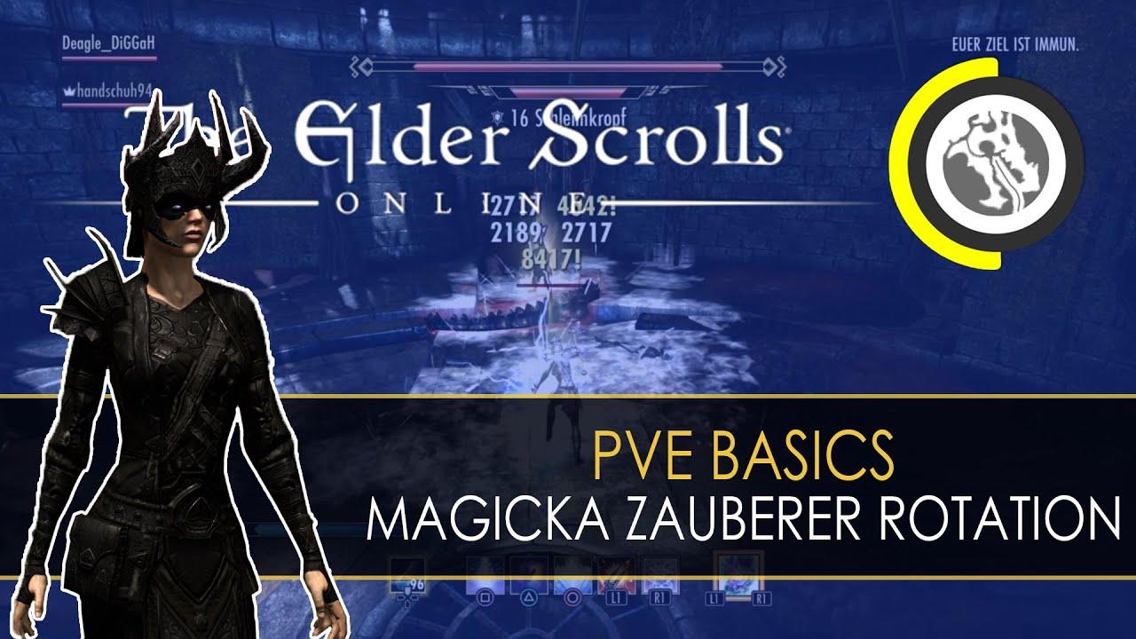 ESO - PvE Basics: Magicka Zauberer Skill-Rotation (No Overload)