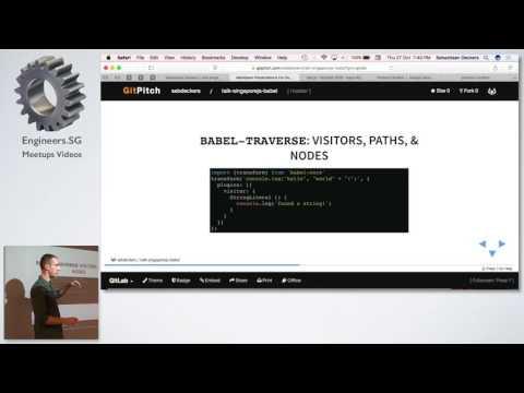 Babel plugins: Writing code that writes code - SingaporeJS