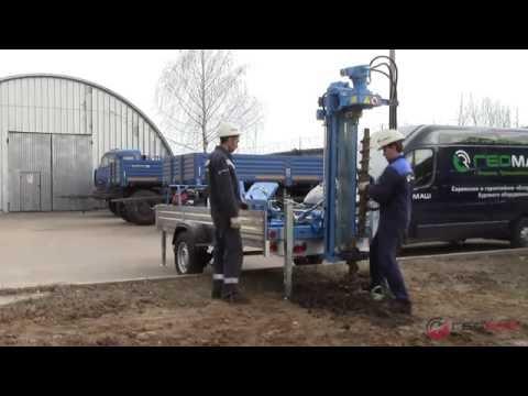 Геомаш. Мобильная буровая установка МБУ-601-000 на прицепе МЗСА