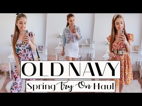 HUGE OLD NAVY TRY ON HAUL *Affordable spring outfits*