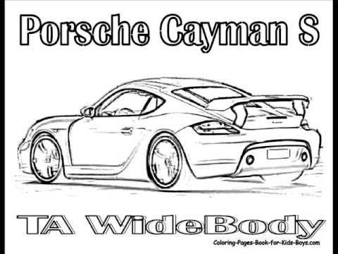Porsche 911 Turbo Coloring Pages Audi A6 Coloring Pages