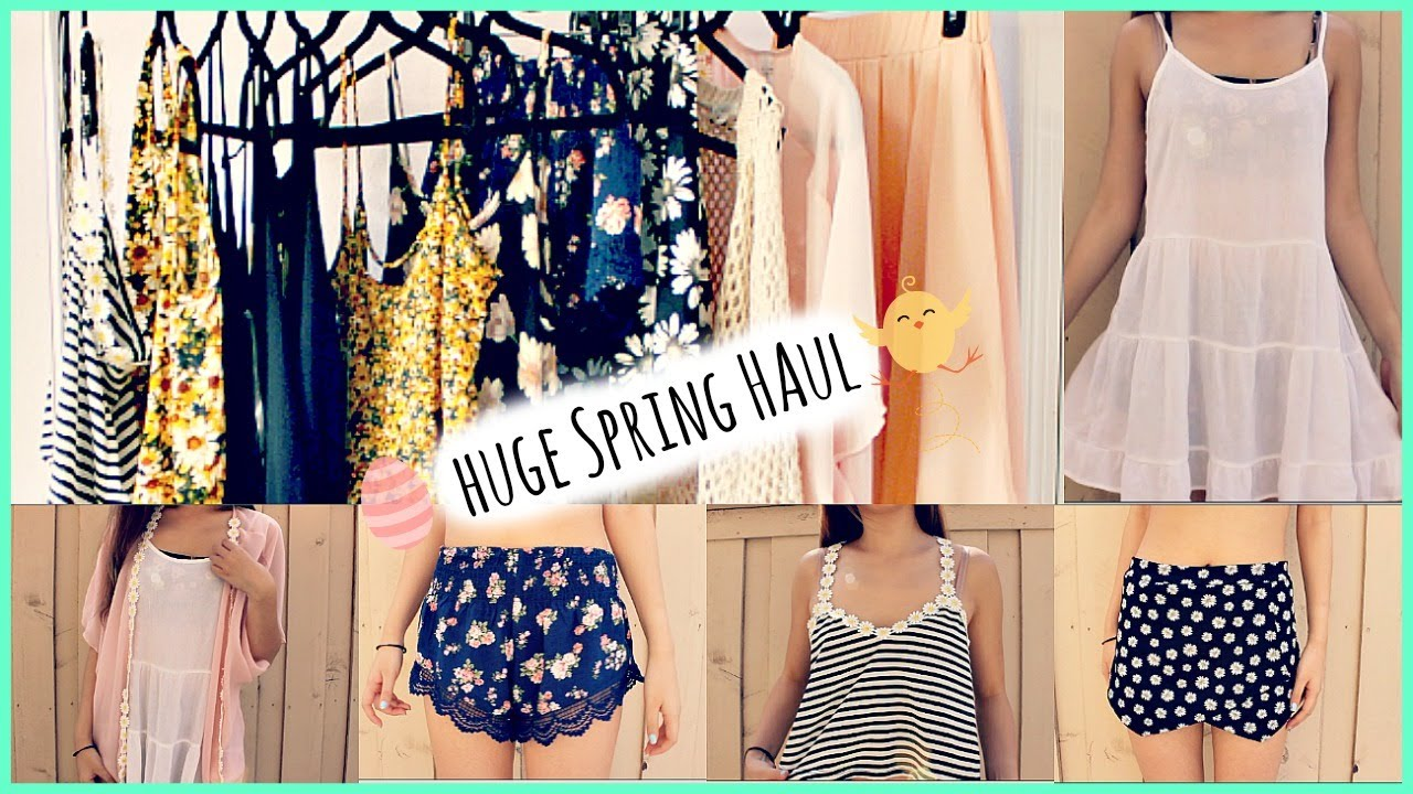 Spring Haul Part 2  Forever 21, Fashion Q, Gstage Try On  YouTube